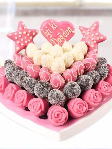 Happy Day Meyve Sepeti ve Çikolatalar çiçek gönder