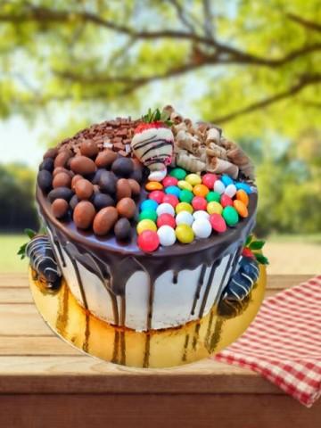 Şekerleme Kokteyl Pasta Meyve Sepeti ve Çikolatalar çiçek gönder