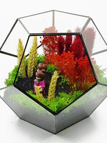 Geometrik Teraryum Hep Yanımda Kal  (Yapay) Terarium çiçek gönder