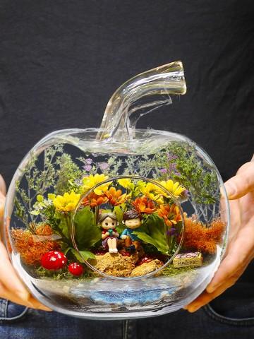 Bu Çiçekte Aşk Var Yapay  Teraryum Terarium çiçek gönder