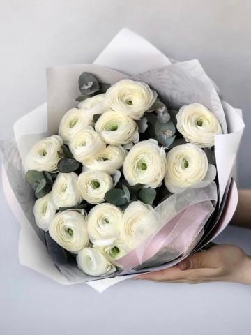 Sade Taptaze Erengül (Ranunculus) Buketi Buketler çiçek gönder