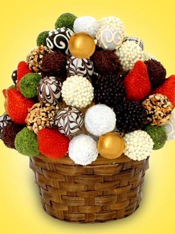 Mix Meyve Sepeti Meyve Sepeti ve Çikolatalar çiçek gönder