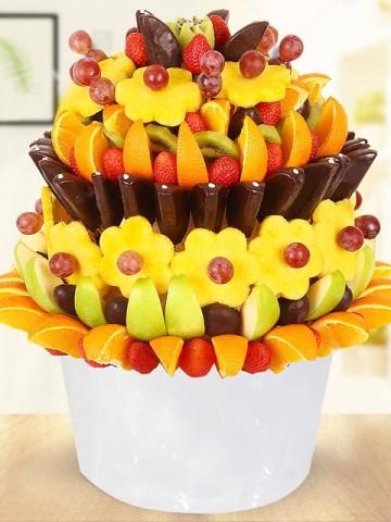 Elegant Fruit Meyve Sepeti Meyve Sepeti ve Çikolatalar çiçek gönder