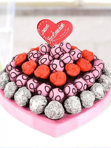 Canım Öğretmenime Kek Hediyesi Meyve Sepeti ve Çikolatalar çiçek gönder