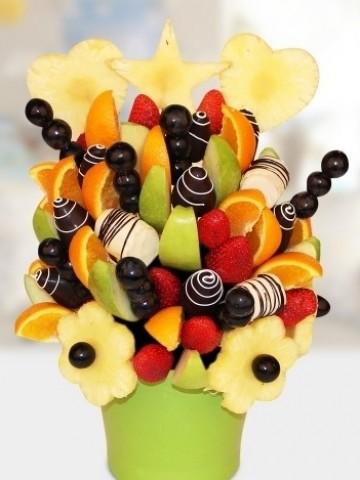 Rainbow Meyve Sepeti Meyve Sepeti ve Çikolatalar çiçek gönder