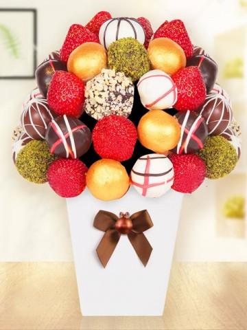 Gold Chocolate Meyve Sepeti ve Çikolatalar çiçek gönder