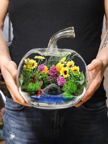 Papatya Bahçem Teraryum Aranjmanı Terarium çiçek gönder