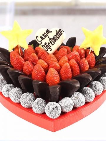 Love Teacher Meyve Sepeti ve Çikolatalar çiçek gönder