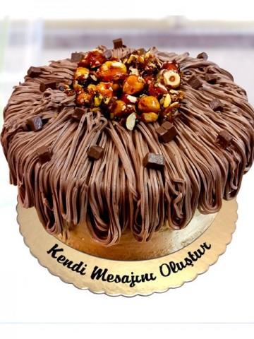 Krokanlı Pasta Meyve Sepeti ve Çikolatalar çiçek gönder
