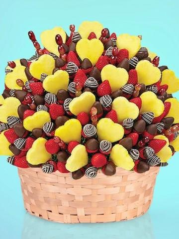Nice Party Meyve Sepeti Meyve Sepeti ve Çikolatalar çiçek gönder