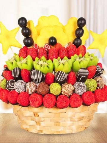 Mix Fruit Meyve Sepeti Meyve Sepeti ve Çikolatalar çiçek gönder