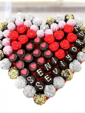 Mix Heart Meyve Sepeti ve Çikolatalar çiçek gönder