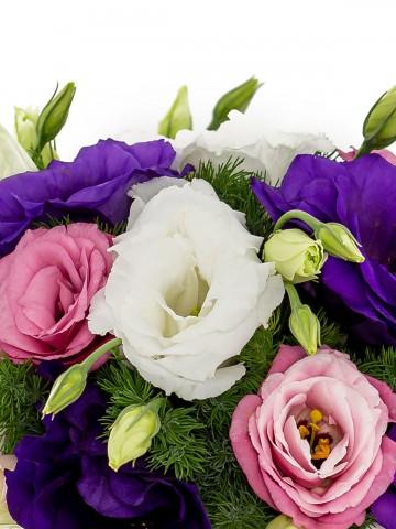 Rengarenk Lisyantuslu Çiçek Aranjmanı Aranjmanlar çiçek gönder