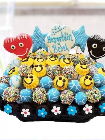 Happy Baby Meyve Sepeti ve Çikolatalar çiçek gönder