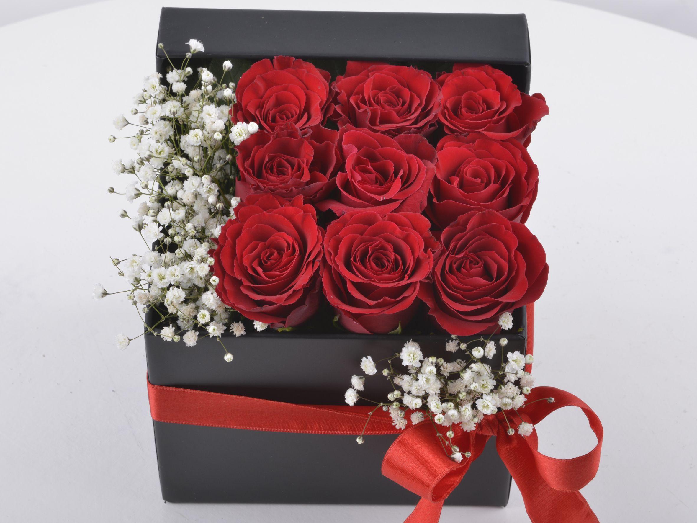 Seni Çok Seviyorum Hediyelik Kutuda Kırmızı Güller Kutuda Aranjmanlar çiçek gönder