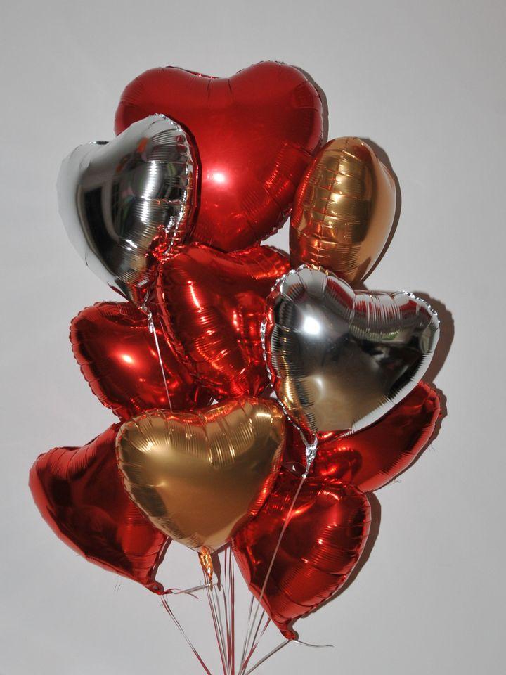 Renkli Kalpler Balon Buketi  çiçek gönder