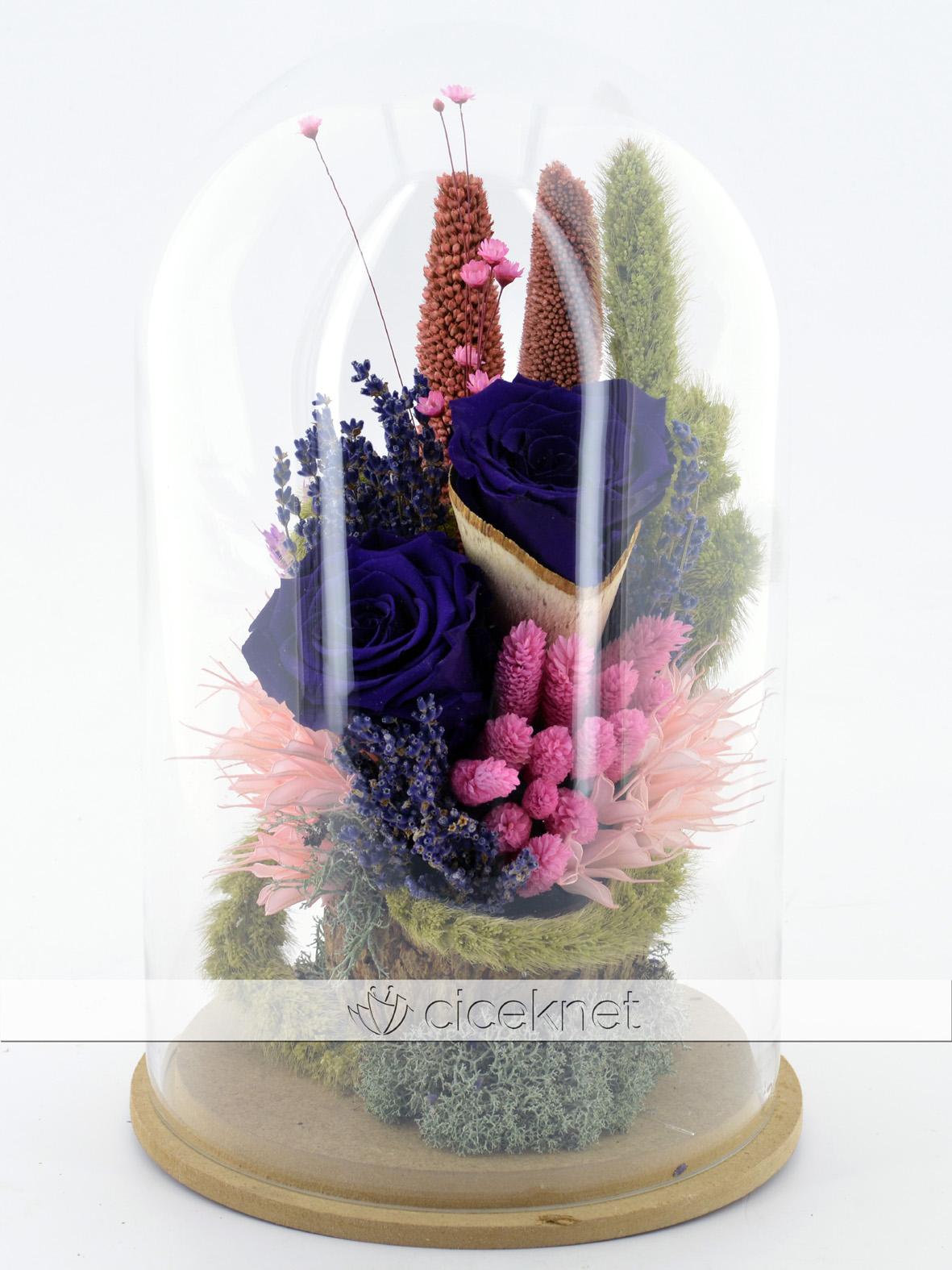 İlahi Aşk Mavi Solmayan Güller  çiçek gönder
