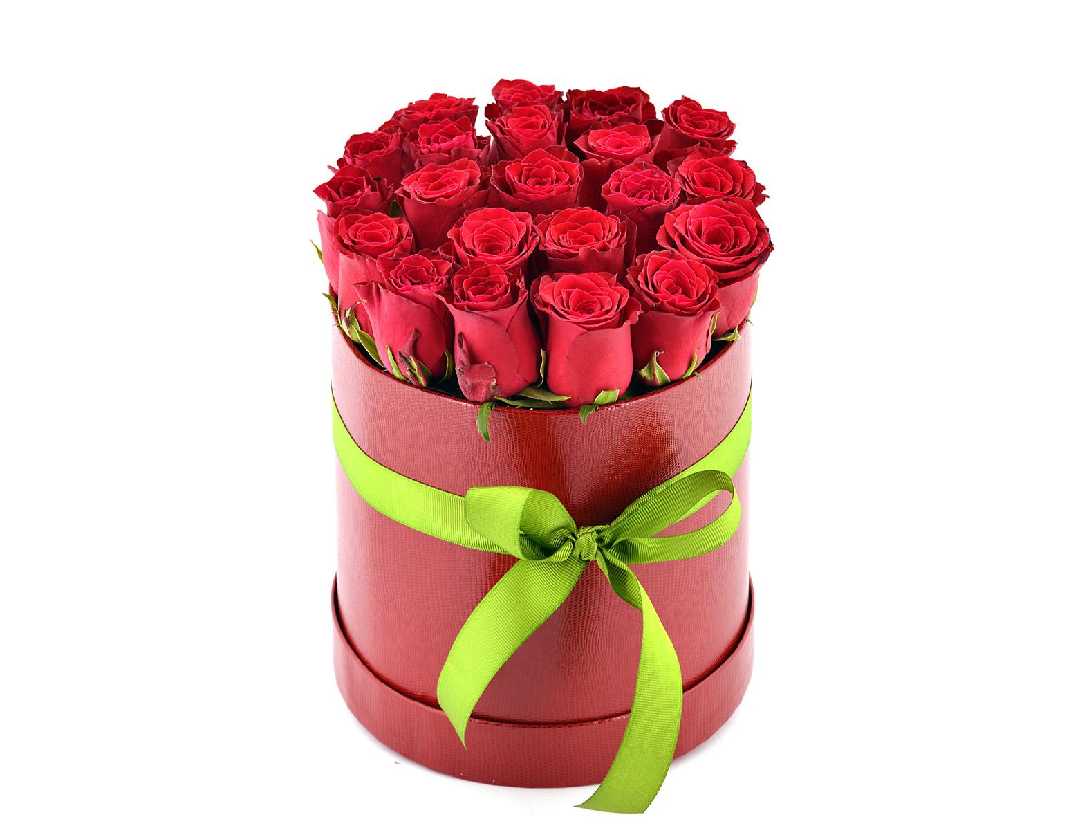 Kutu da 21 Adet Kırmızı Gül  Aranjmanlar çiçek gönder