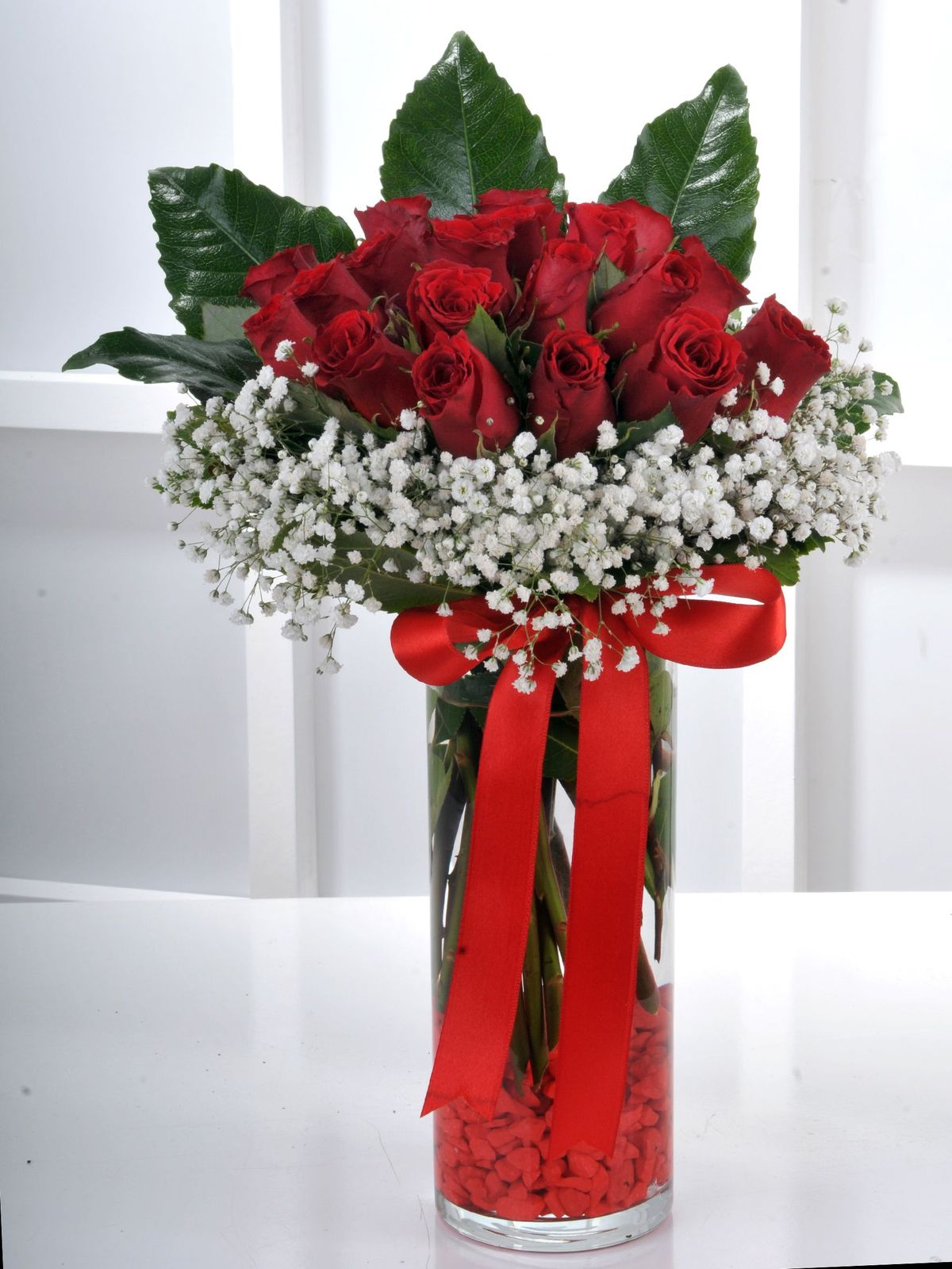 Vazoda 21 Kırmızı Gül Arajmanı. Aranjmanlar çiçek gönder