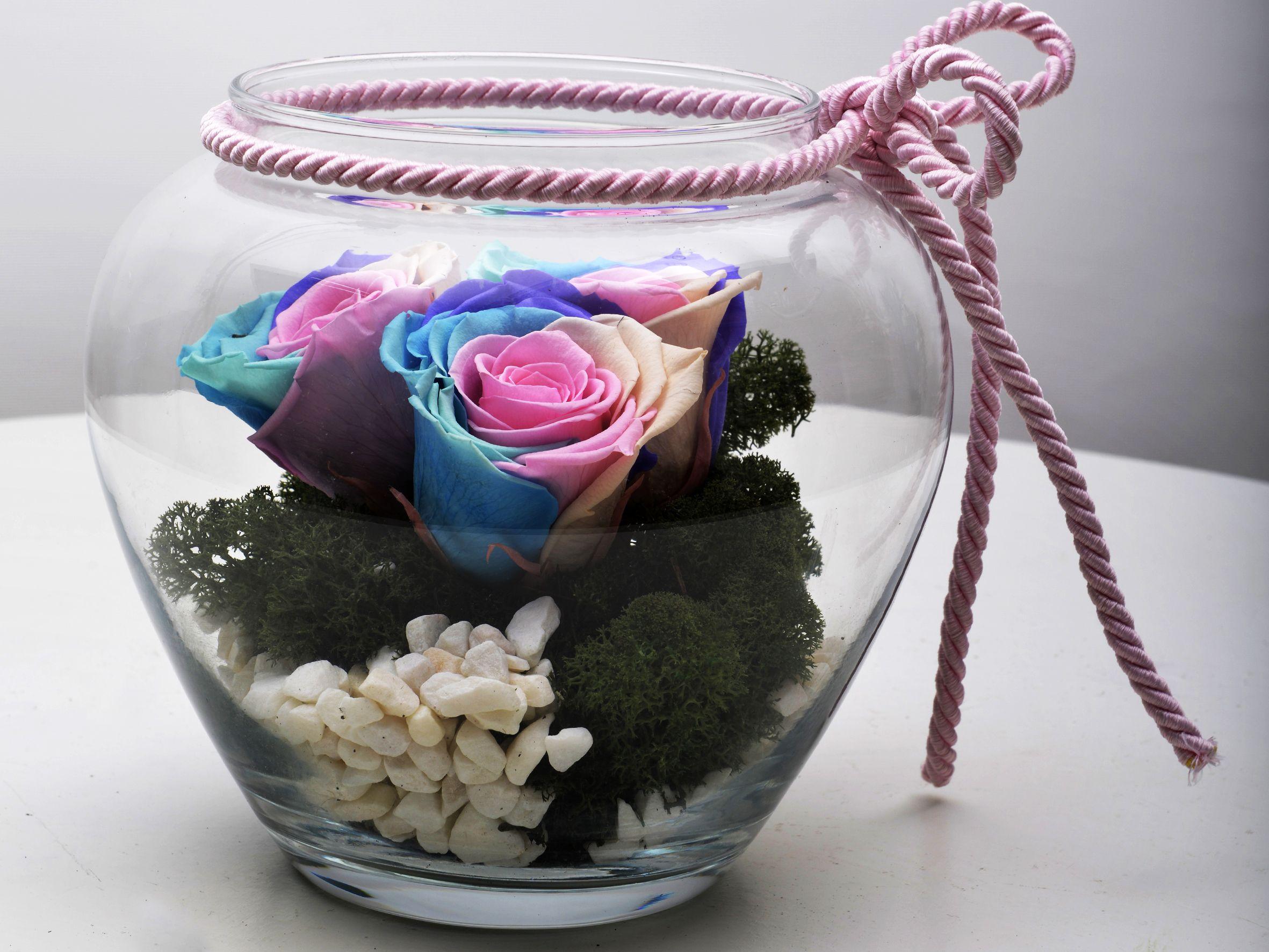 Seni Seviyorum Solmayan Gül Arajmanı Solmayan Güller  çiçek gönder