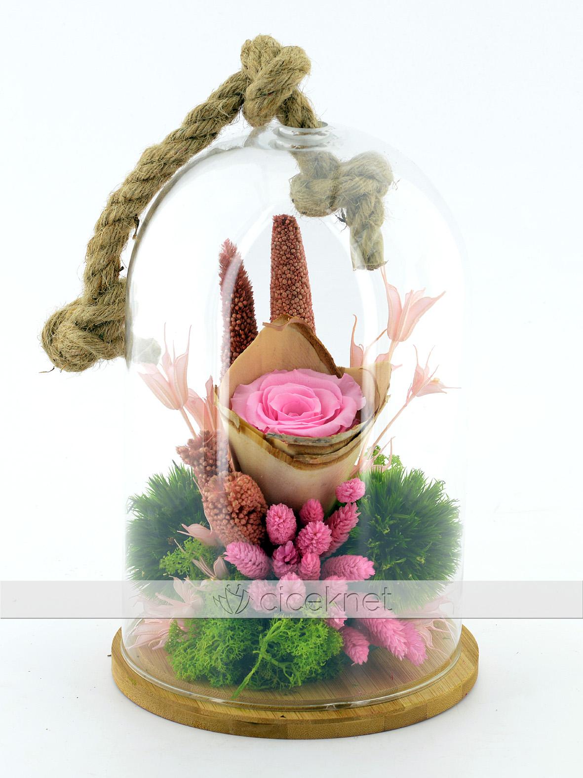 Bir Tek Sen Solmayan Gül Aranjmanı  çiçek gönder