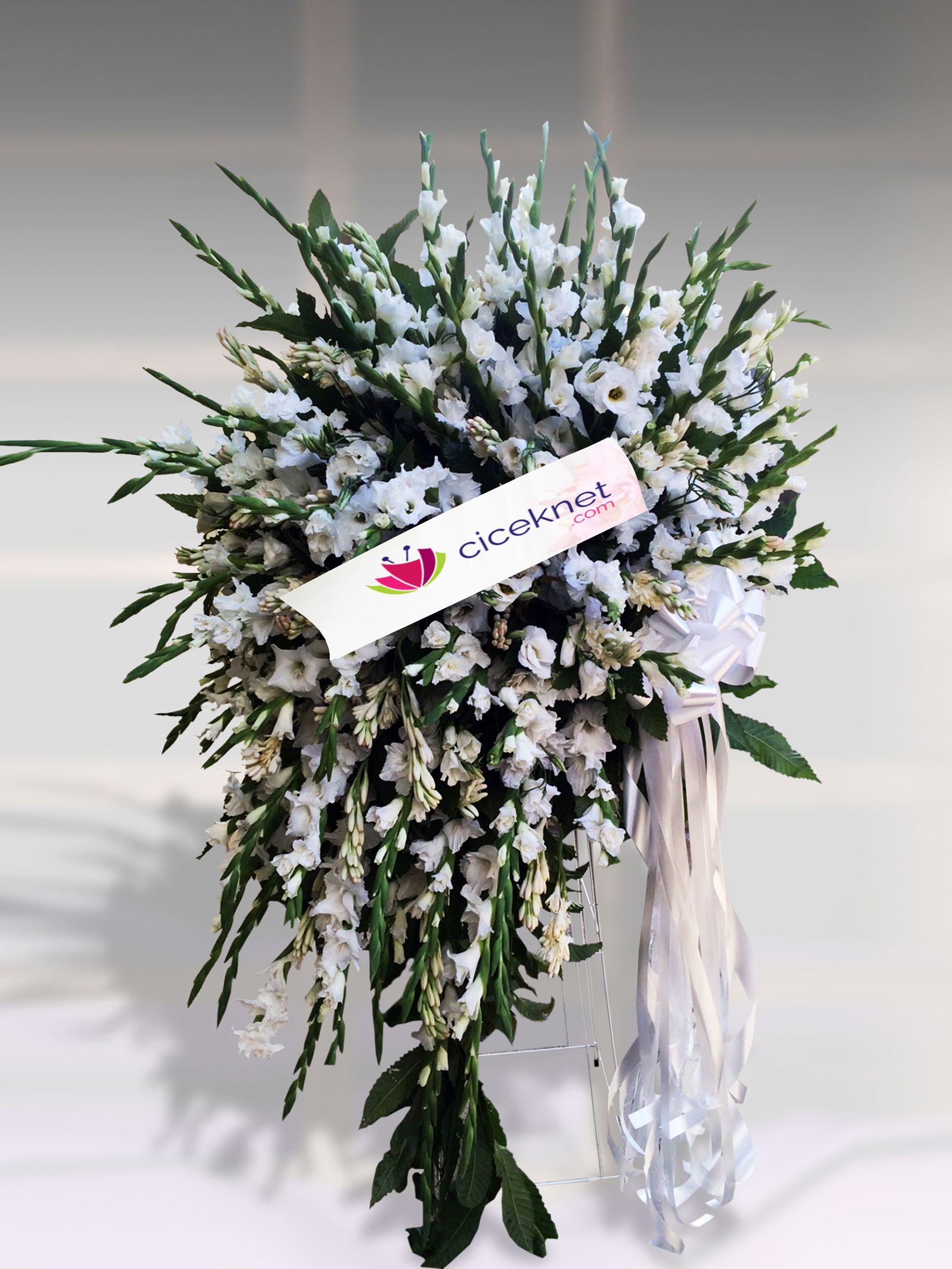 Ferforje Aranjmanı Ayaklı Sepet çiçek gönder