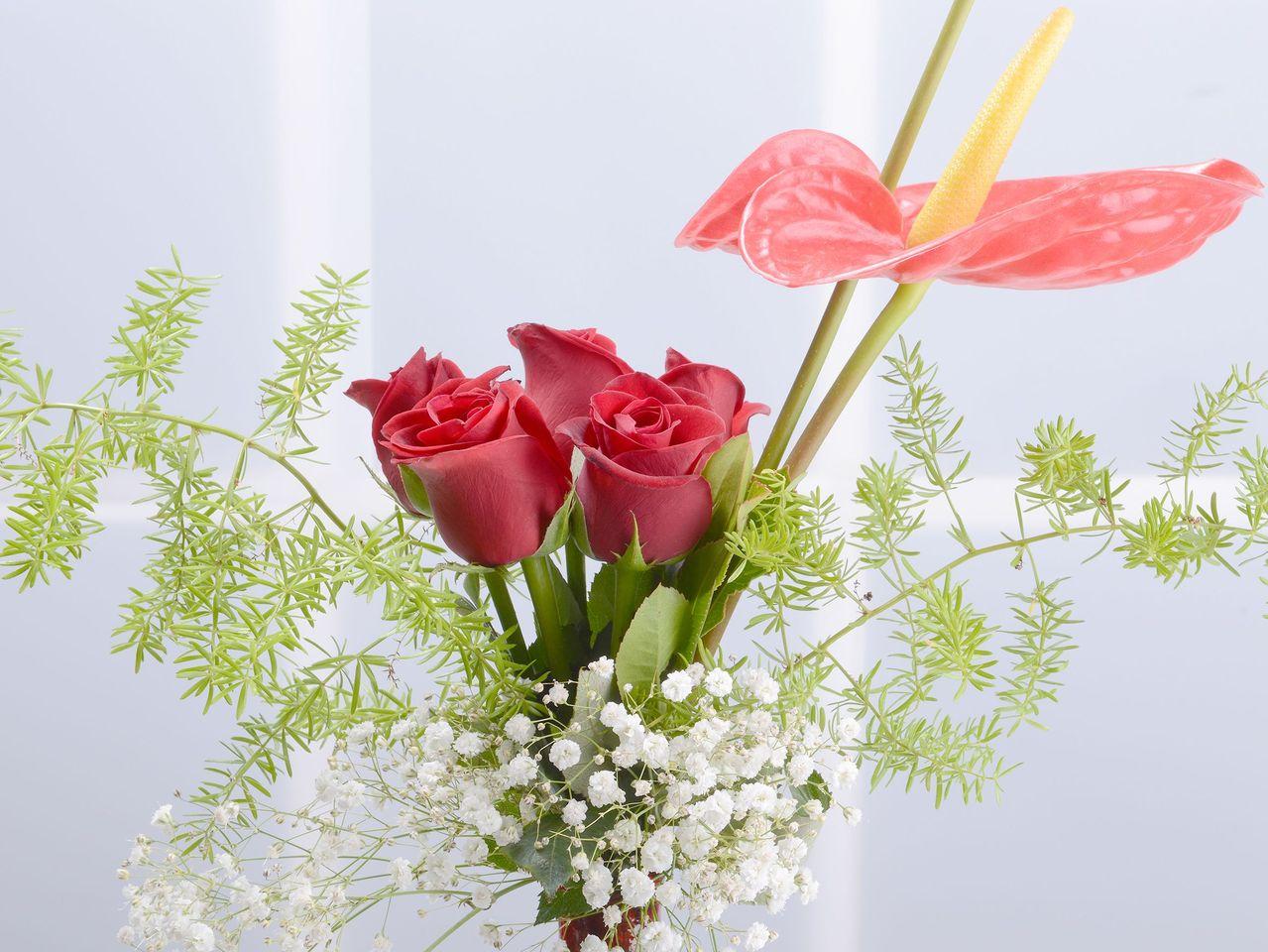 Kemaninin Düeti Kırmızı Güller Aranjmanlar çiçek gönder