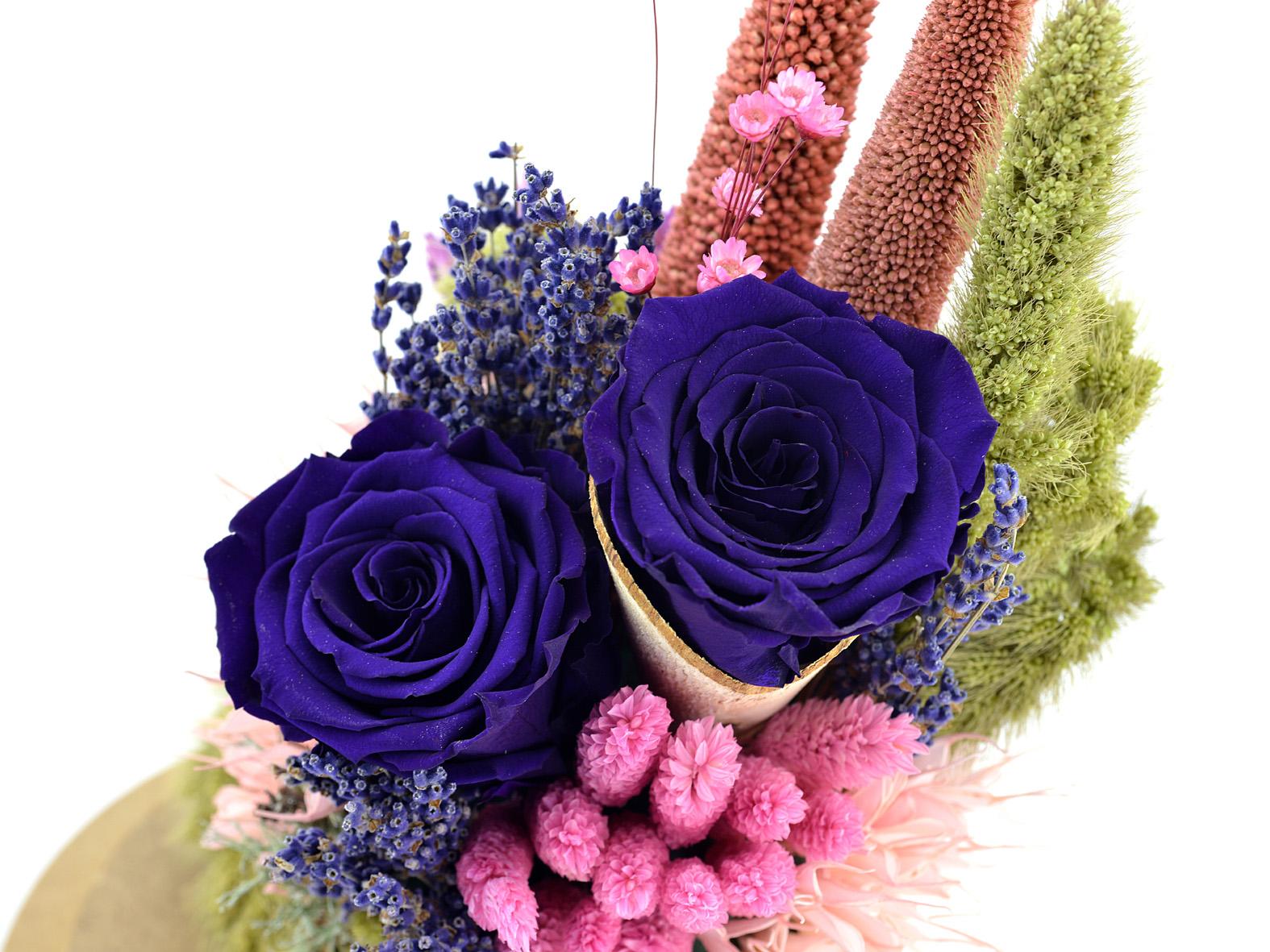 İlahi Aşk Mavi Solmayan Güller Solmayan Güller  çiçek gönder
