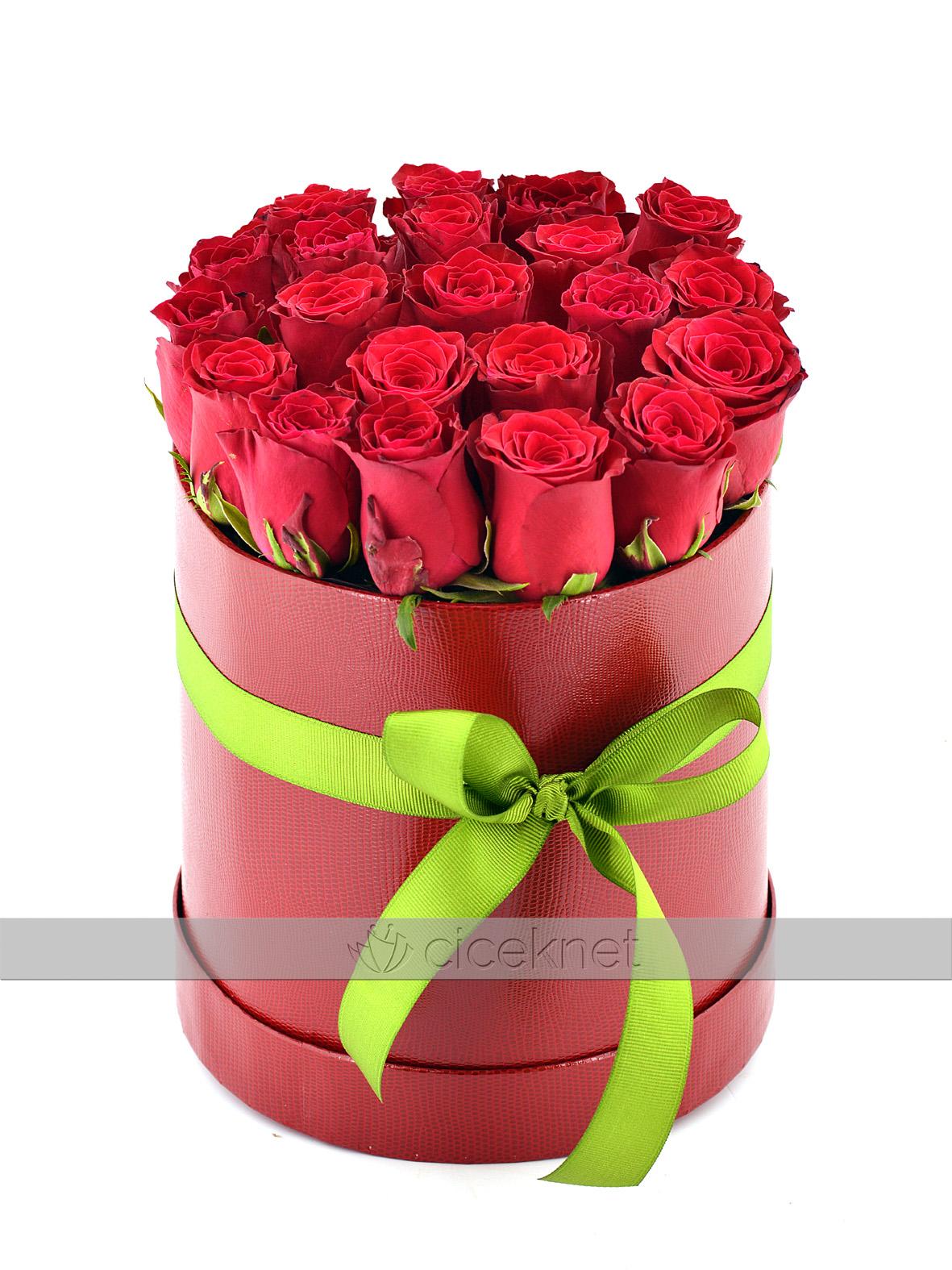 Kutu da 21 Adet Kırmızı Gül   çiçek gönder