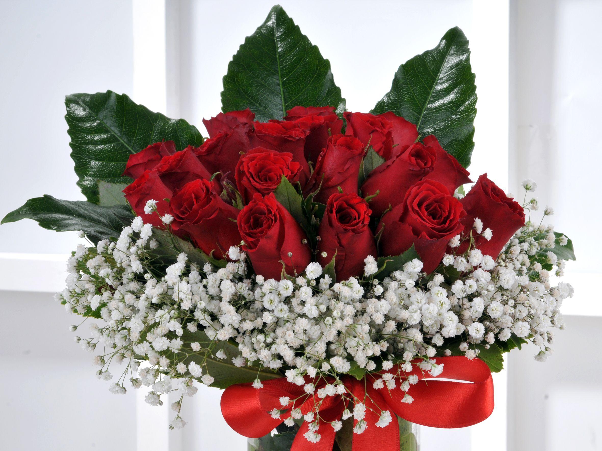 Vazoda 21 Kırmızı Gül Arajmanı.. Aranjmanlar çiçek gönder