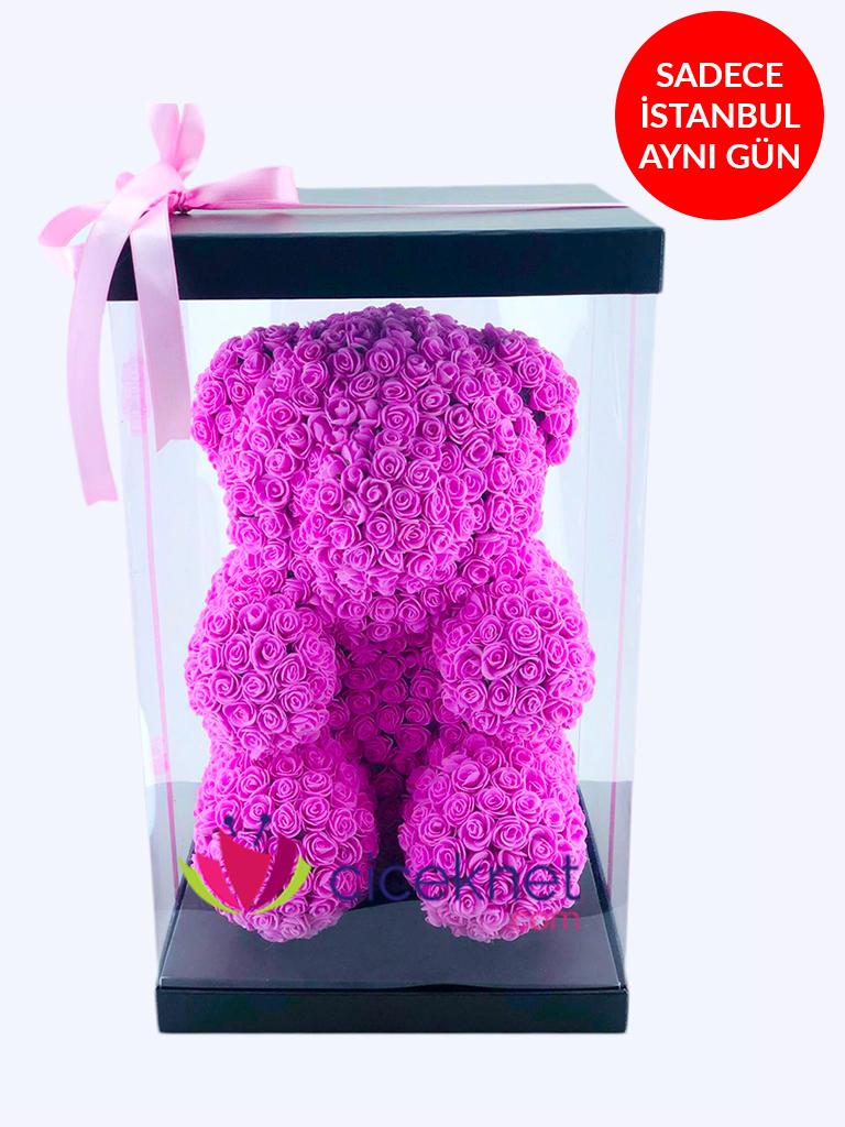 Teddy Love (Pembe) Ömürlük Bir Hediye  çiçek gönder