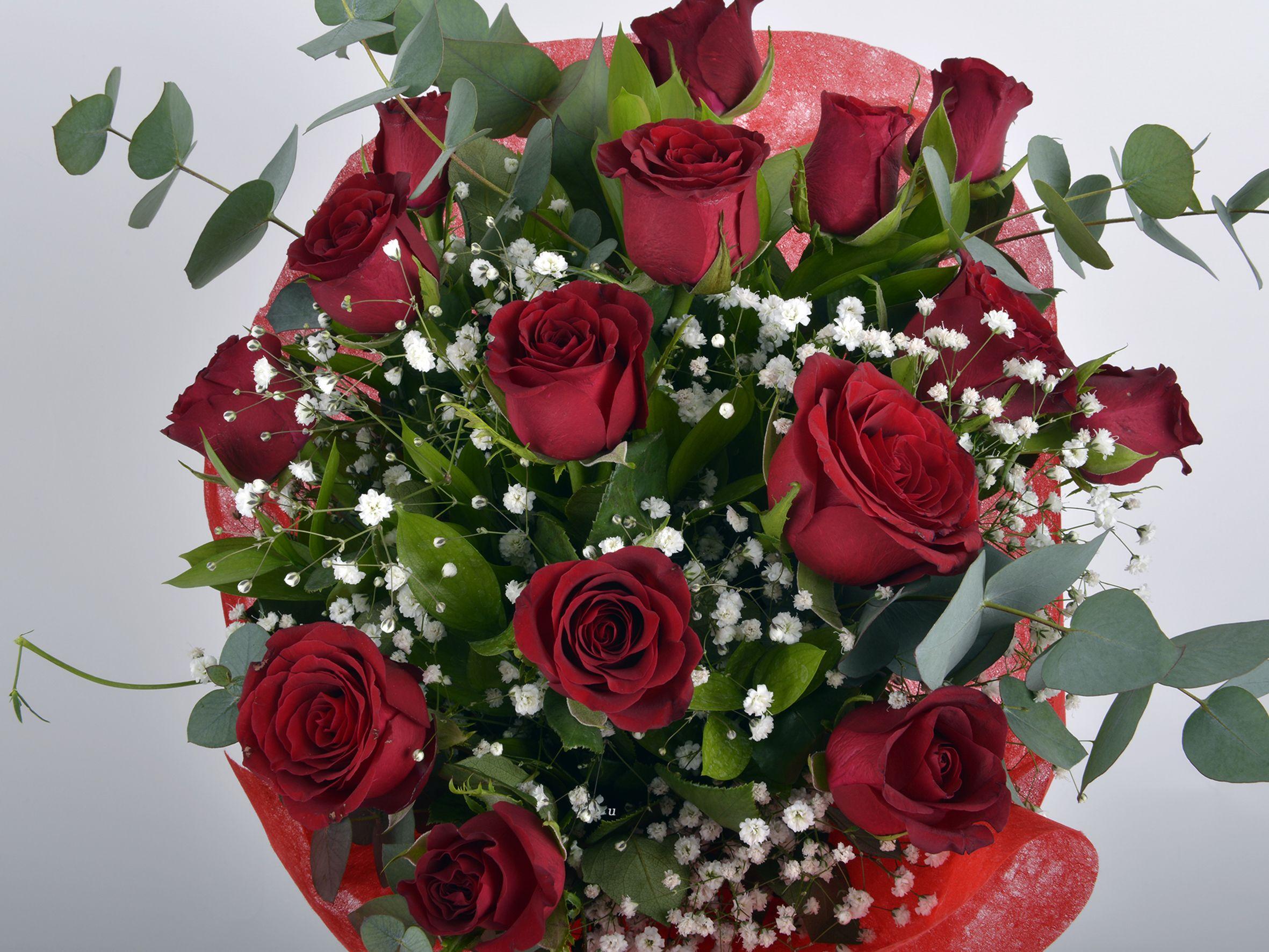 Buket 15 Kırmızı Gül Buketler çiçek gönder