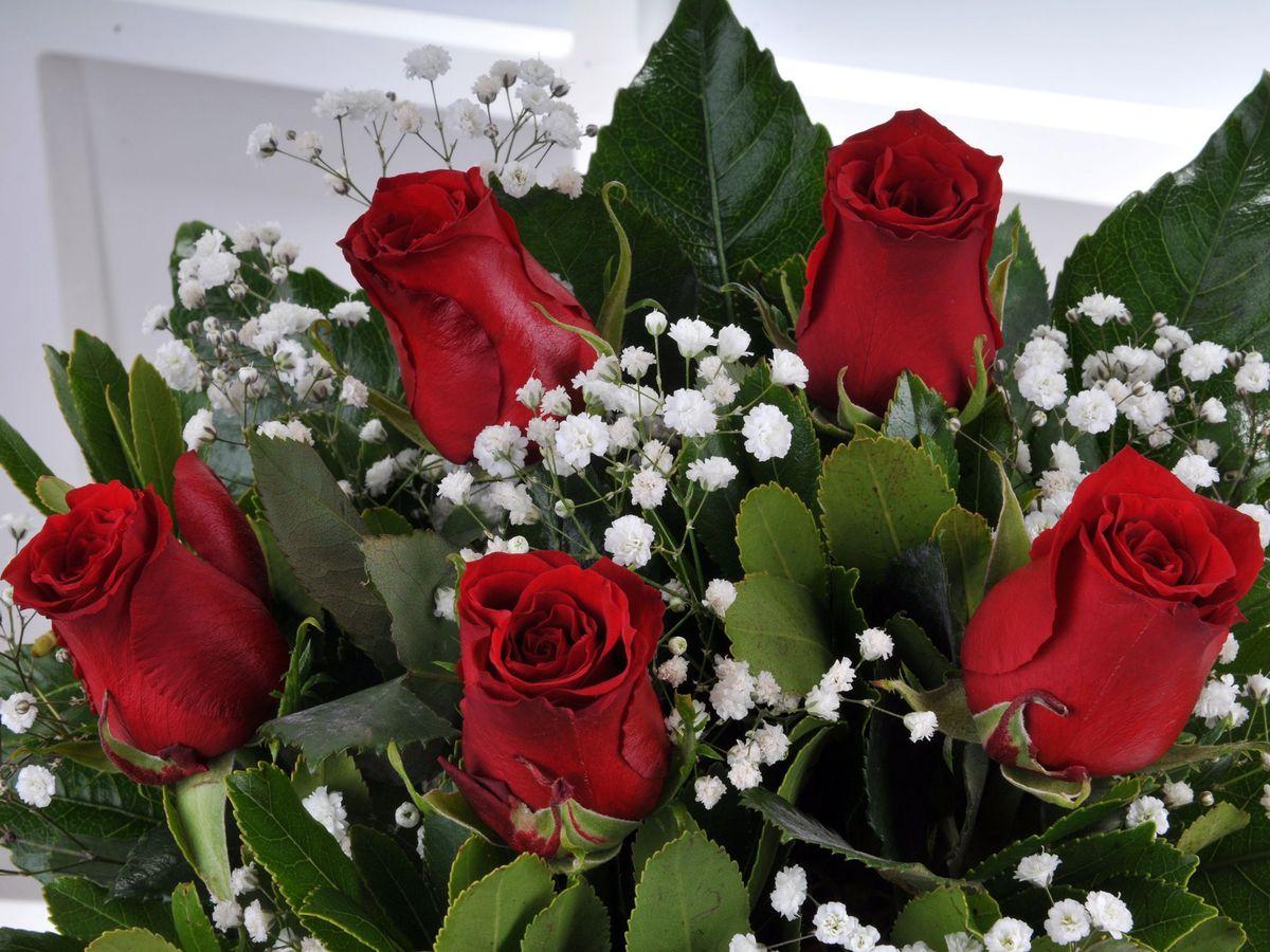 Vazoda 5 Kırmızı Gül Çiçek Arajmanı. Aranjmanlar çiçek gönder