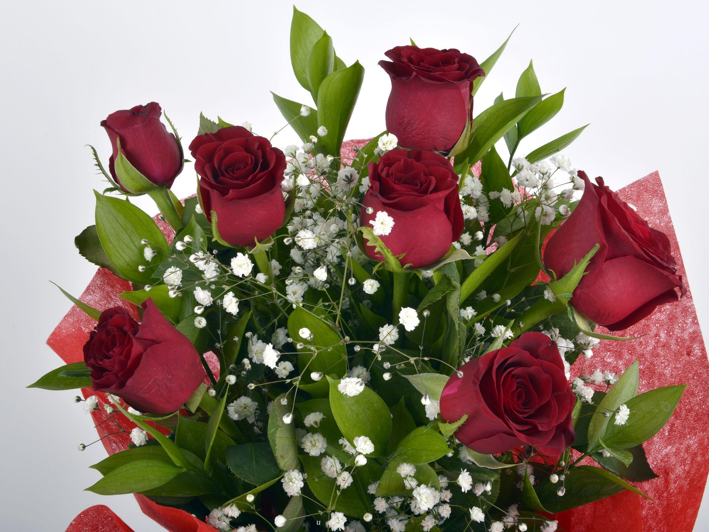 7 Adet Kırmızı Gül Buketi Buketler çiçek gönder