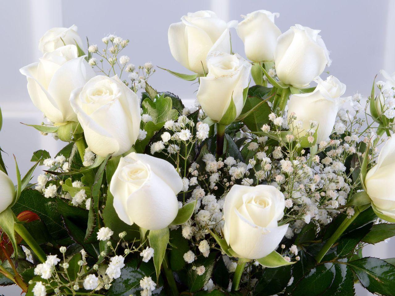 Amfora Camda 11 Beyaz Gül Aranjmanlar çiçek gönder