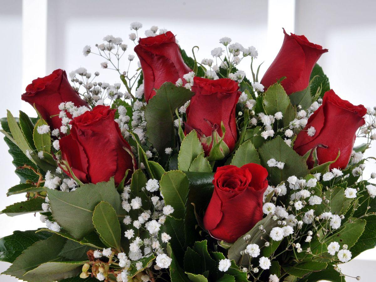 Bir Tutam Aşk 7 Kırmızı Gül çiçek Arajmanı Aranjmanlar