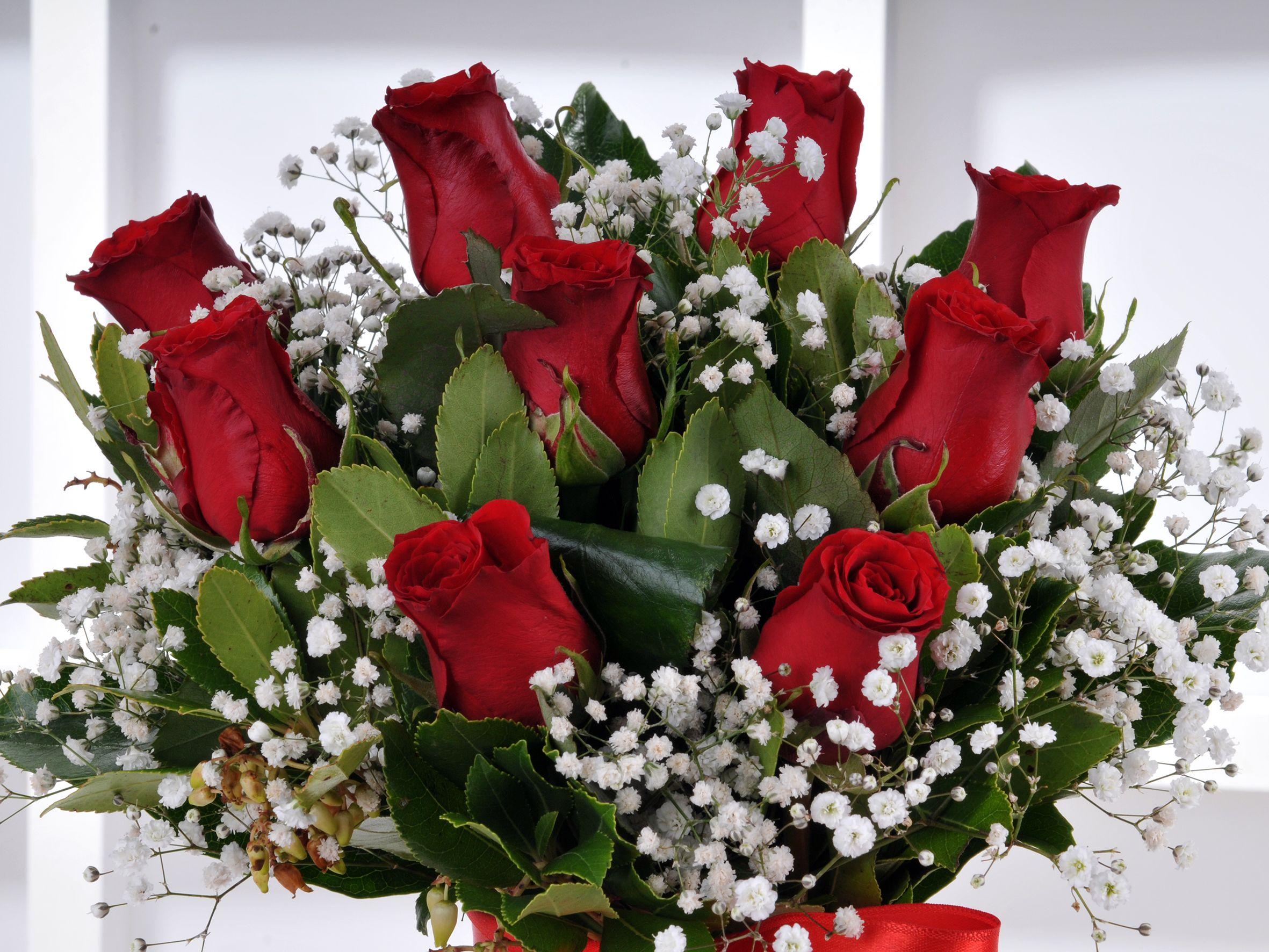 Vazoda 9 Kırmızı Gül Aranjmanlar çiçek gönder
