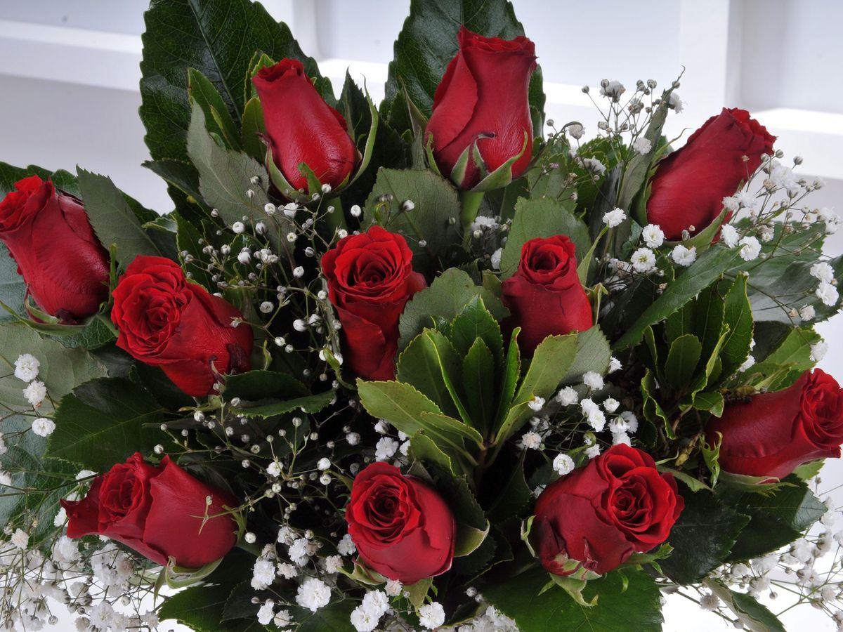 Vazoda 11 Kırmızı Gül. Aranjmanlar çiçek gönder